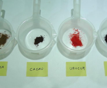 pigmentos de cores naturais