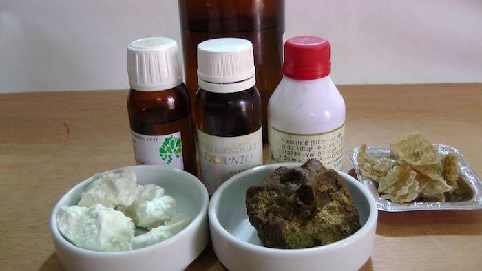 ingredientes para elabora pomada