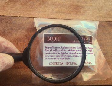 etiqueta de shampoo sólido natural