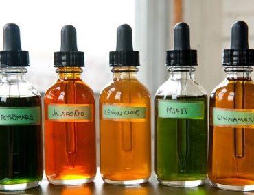 frascos com tinturas diversas