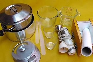 materiais elaboração sabão artesanal